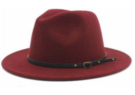 Womens Fedora Panama Hats,Wide Brim w/Belt Buckle $15.99